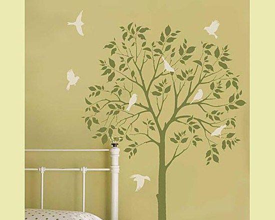 Métodos y plantillas para decorar paredes