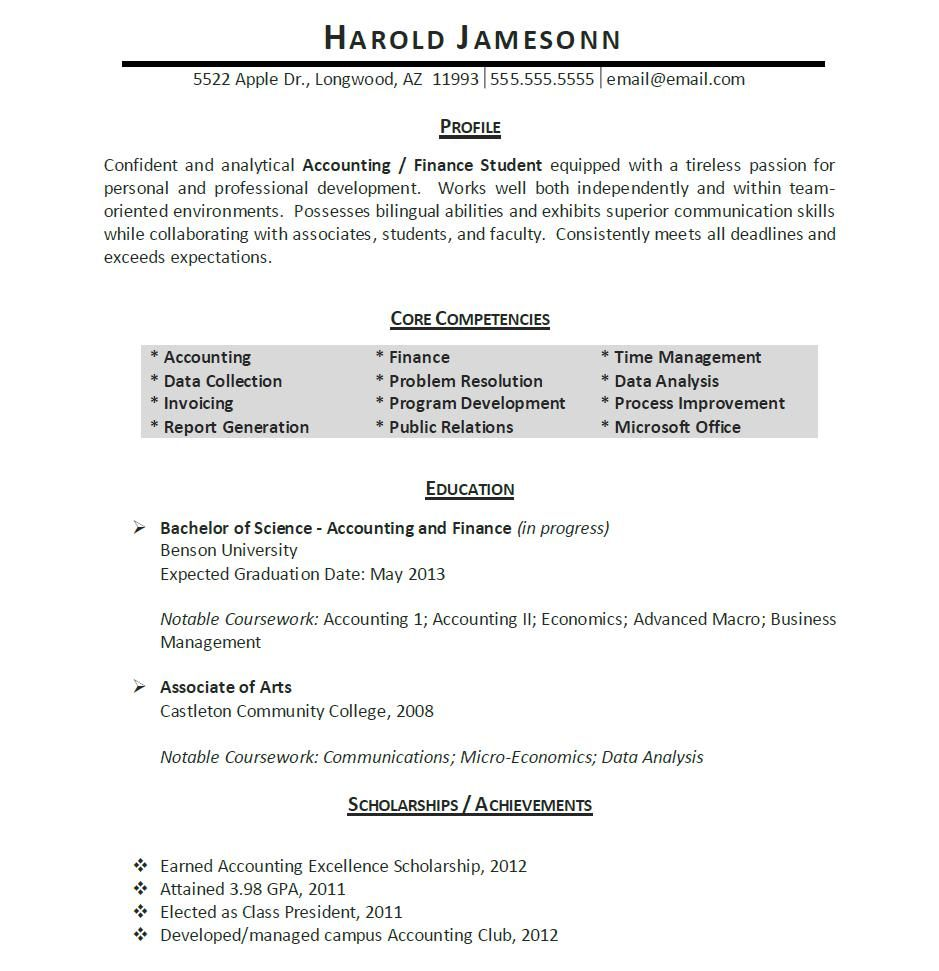 Charming Free Resume Templates For Students Resume : Free Elegant Resume Templates  Resume Terms Resume Job . Within Accounting Student Resume