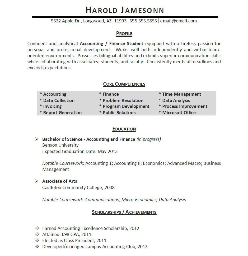 Student Resume Template Http Www Resumecareer Info Student