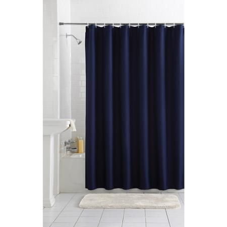 Home Fabric Shower Curtains Navy Blue Shower Curtain Navy