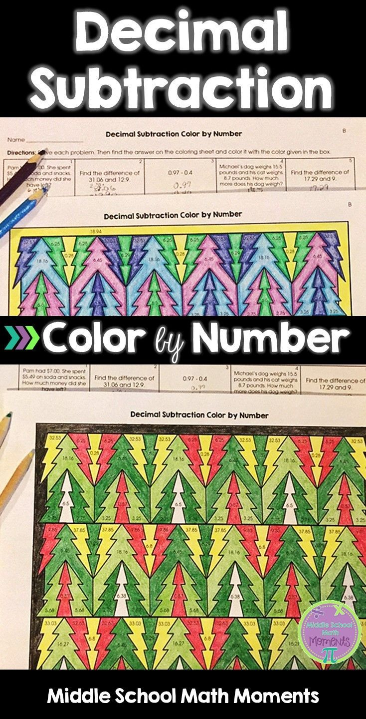 Try this color by number to help your students practice decimal ...