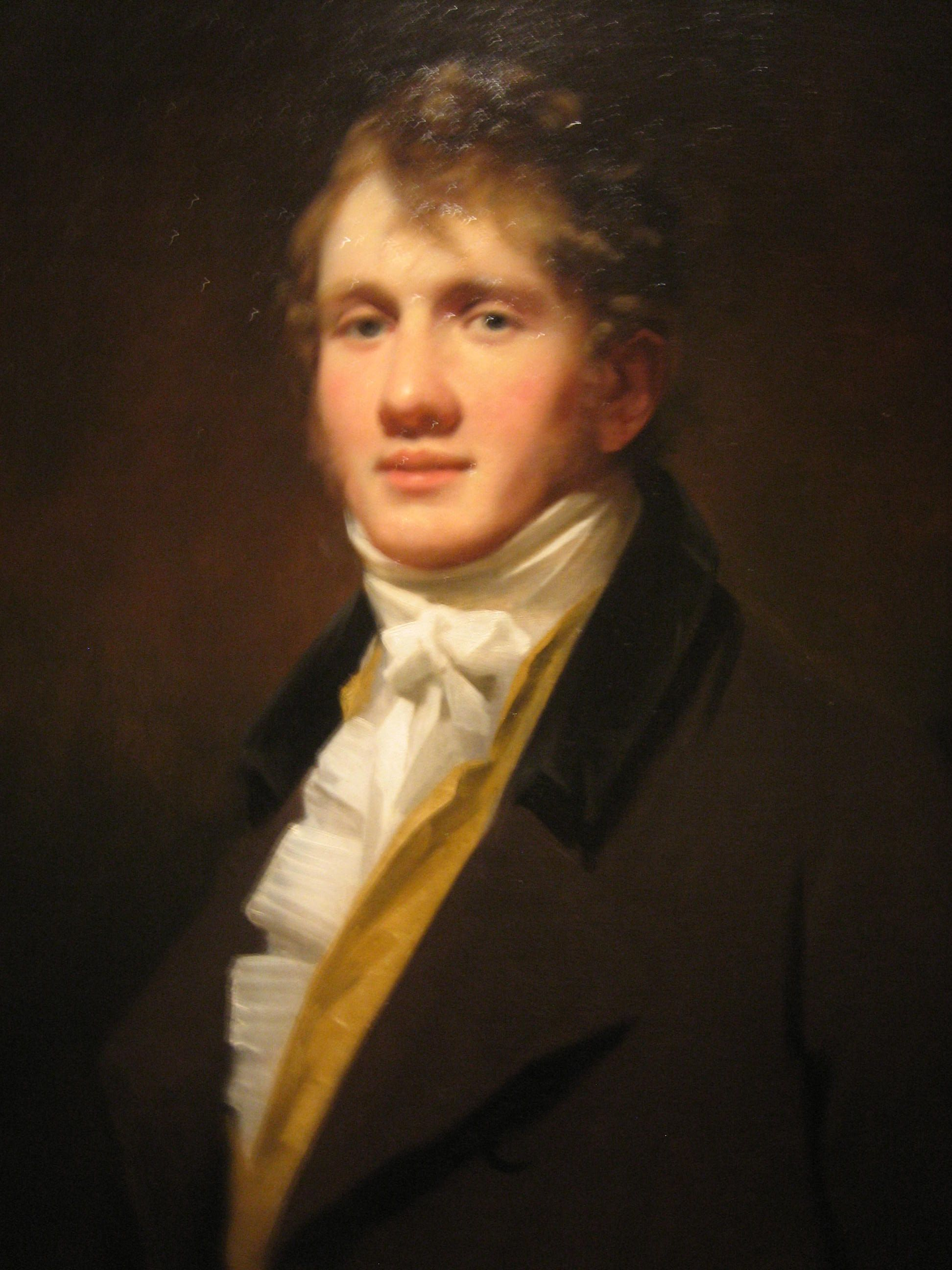 Painting of a young man from the 1810s