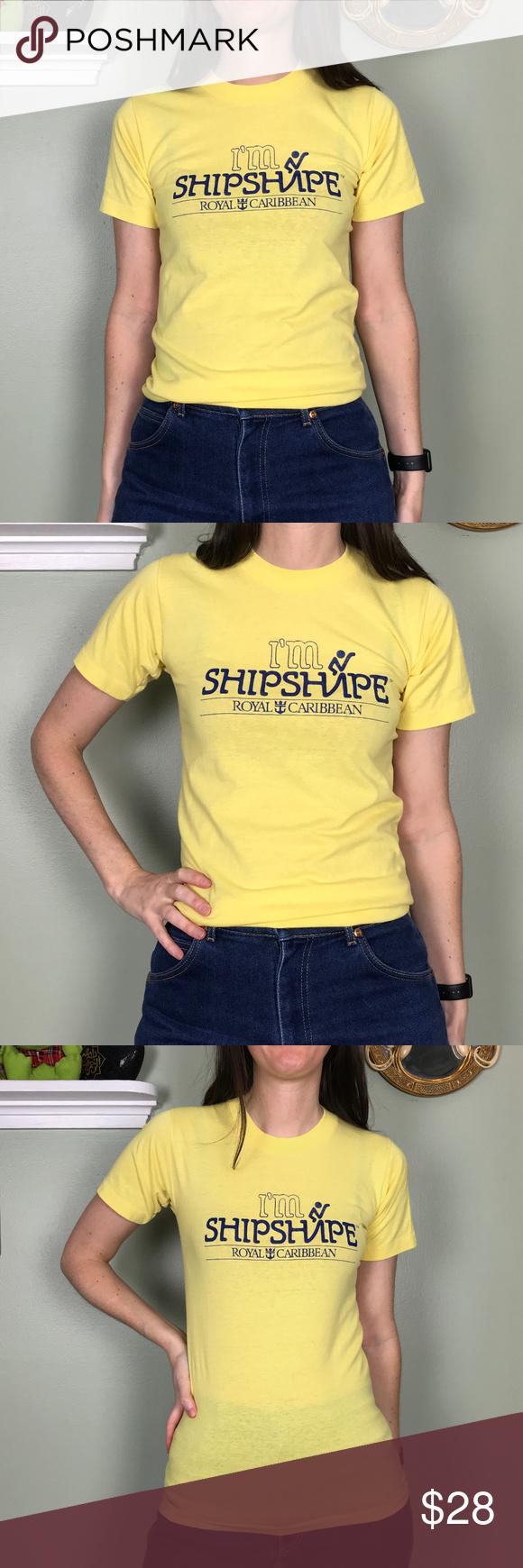 Vintage 1980's I'm Shipshape Royal Caribbean Tee Tees, T