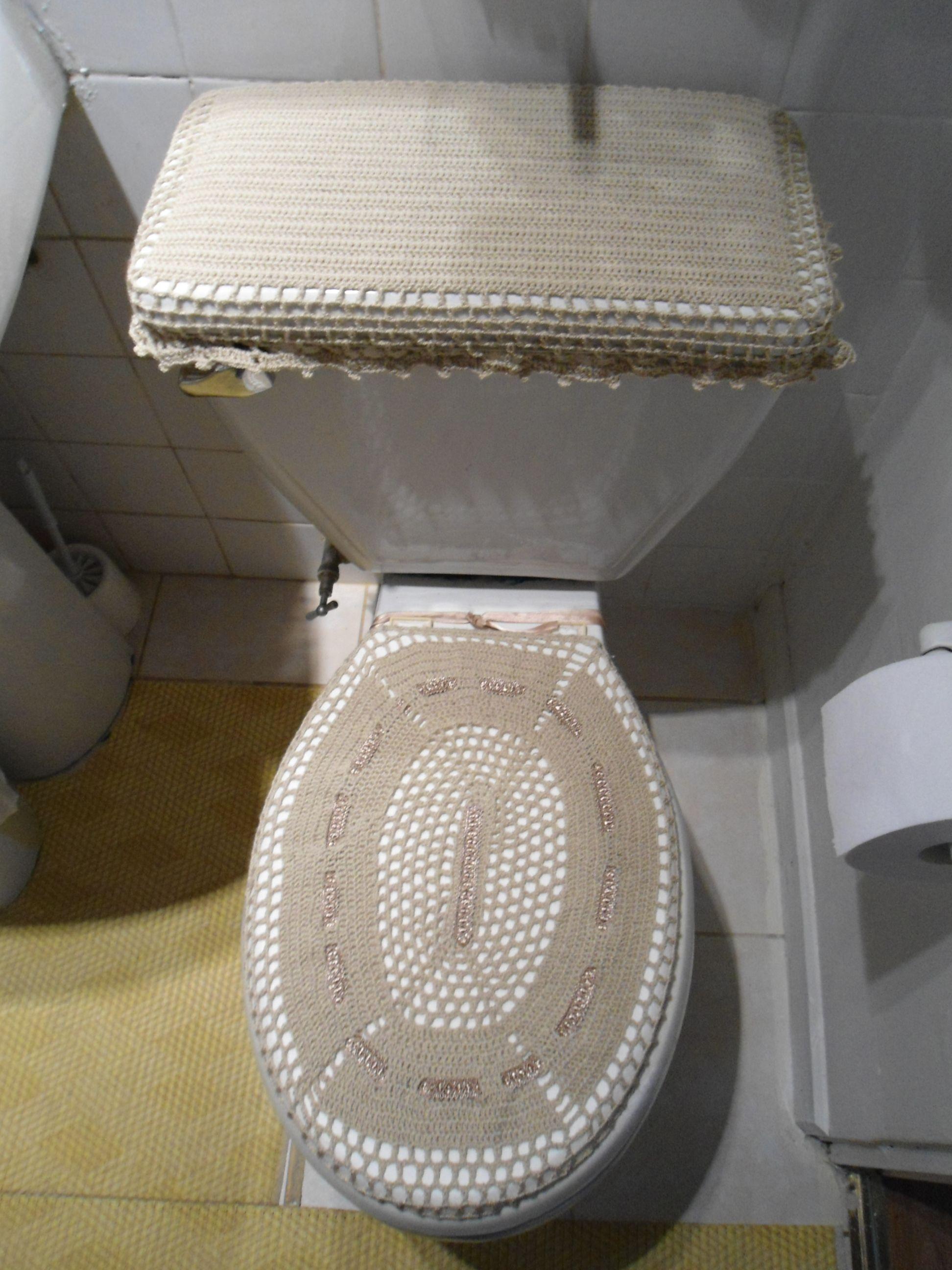 Juegos De Baño A Gancho:Juego de baño tejido a crochet