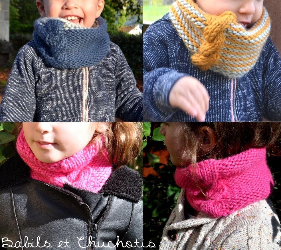 tricoter un snood 10 ans