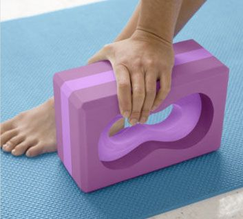 All-Grip Yoga Brick: Support a loved one's yoga practice with a gift that's sure to be used. This unique yoga block has ergonomic openings so it can be gripped from any angle. It's that extra bit of stability for those more challenging poses—Triangle Pose, anyone?