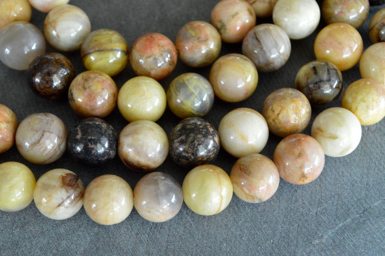 Yellow Moonstone Beads 12mm Natural Yellow Peach Bead Gemstone Large Moonstone 10 Luxe Stone Beads Moonstone Beads Stone Beads 10 Things