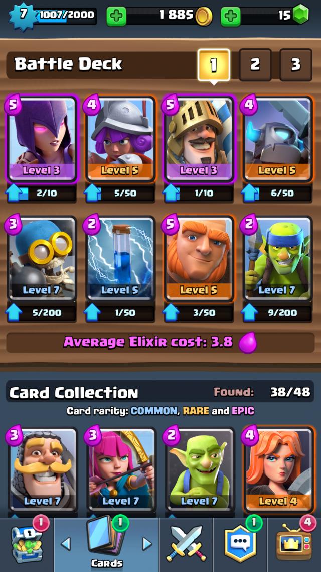 Missing Link Clash Royale Karten Level 8