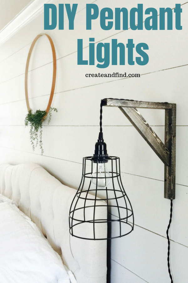 Easy And Affordable Diy Industrial Farmhouse Pendant Lights Diy Pendant Light Bedroom Lighting Diy Farmhouse Diy