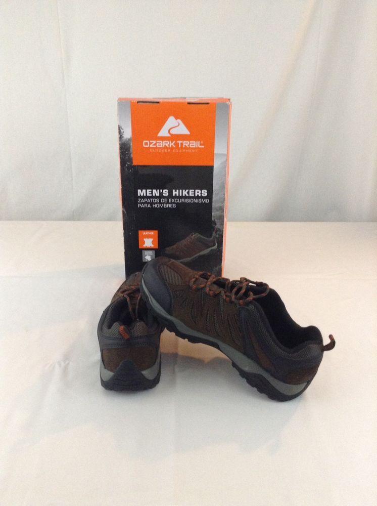 8e7d253fa63c New With Tags Men s Ozark Trail Chocolate Brown Hikers Hiking Size 10 Shoe   OzarkTrail  HikingTrail