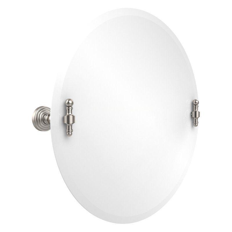 Gatco Tiara 24 In W X 32 In H Oval Tilting Frameless Bathroom