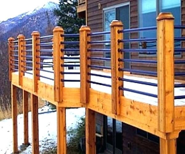 Cheap Deck Railing Ideas Horizontal Porch Railing
