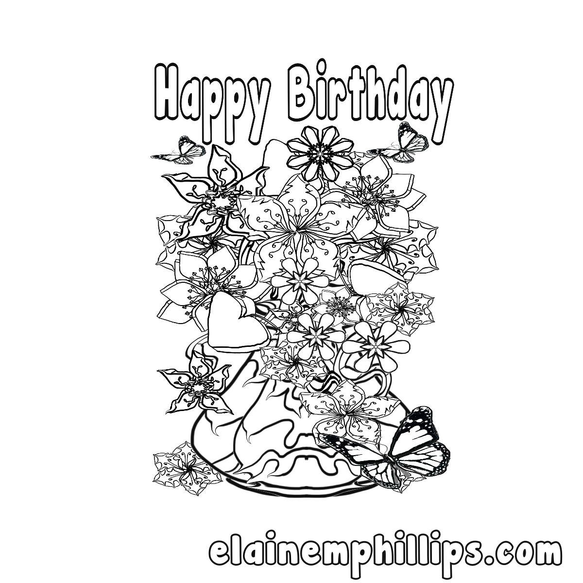 Happy Birthday Printable Card Happy Birthday Color Me Birthday