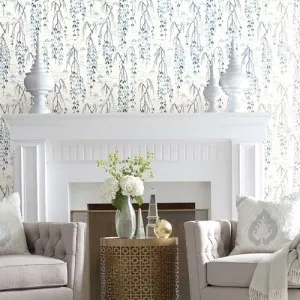 Willow Branch Wallpaper By York Living Room Loft Willow