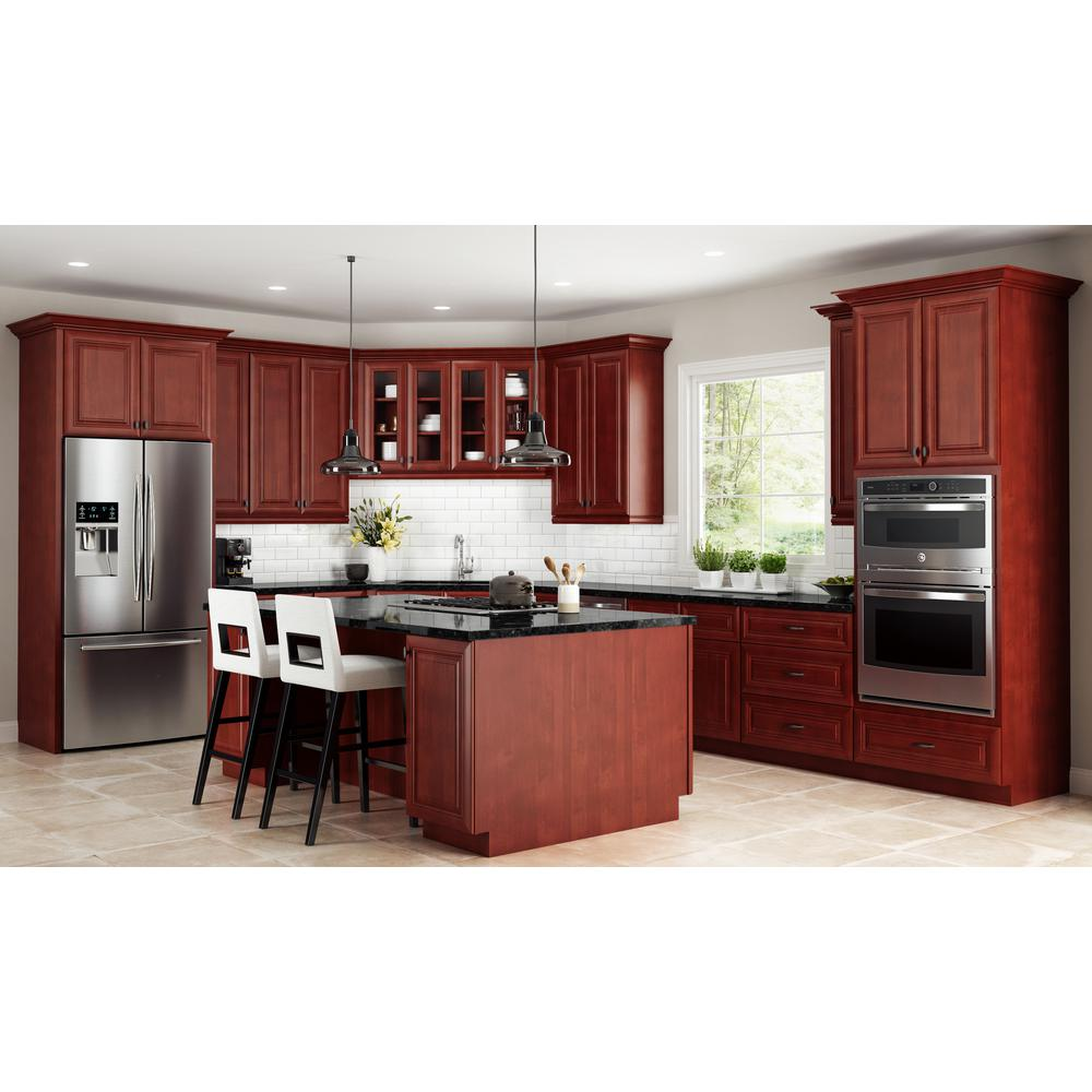 Home Decorators Collection Lyndhurst Assembled 24x36x12 In Single Door Hinge Right Wall Kitchen Blind Corner Cabinet In Cabernet Wbcu2736r Lcb The Home Depot Kitchen Blinds Kitchen Redesign Kitchen Layout