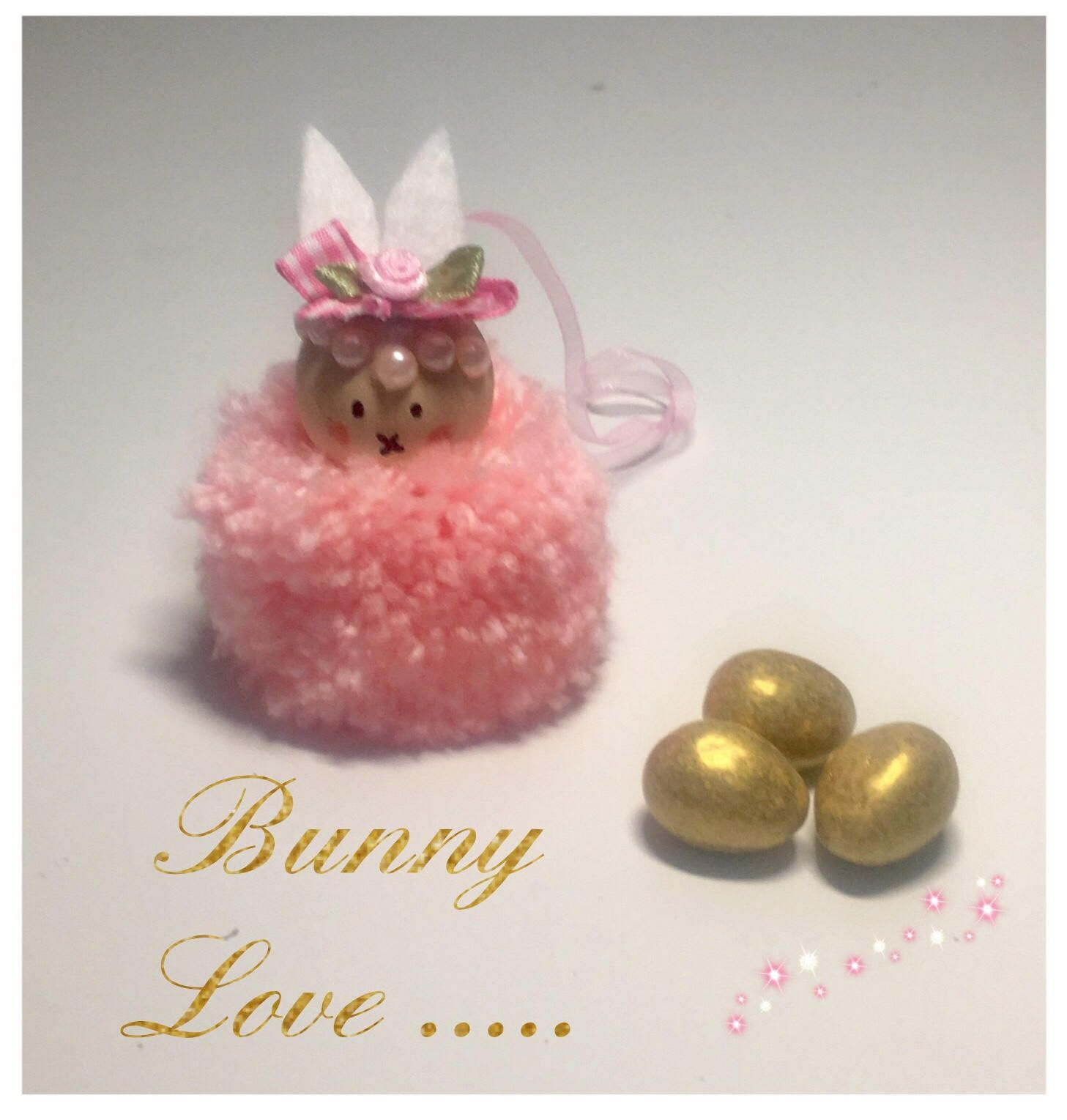 Pink pompom bunny easter bunny easter gift new baby gift baby pink pompom bunny easter bunny easter gift new baby gift baby shower negle Gallery