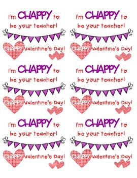 chappy valentines day - Valentines For Students