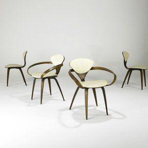 4 vintage pretzel chairs by norman cherner for plycraft c1960 ebay