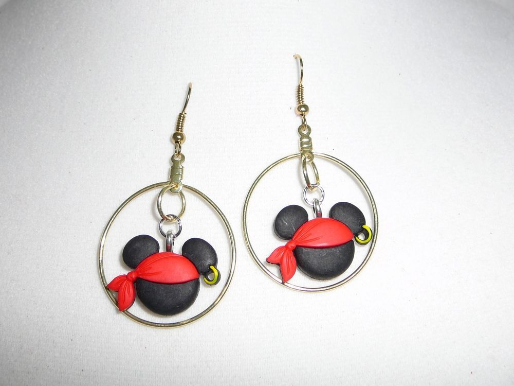 Mickey Pirate Drop Earrings