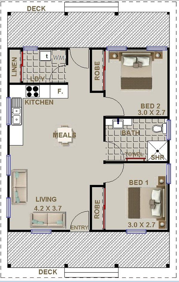 Granny Flat Cottage Style Aussie Modern House Plans