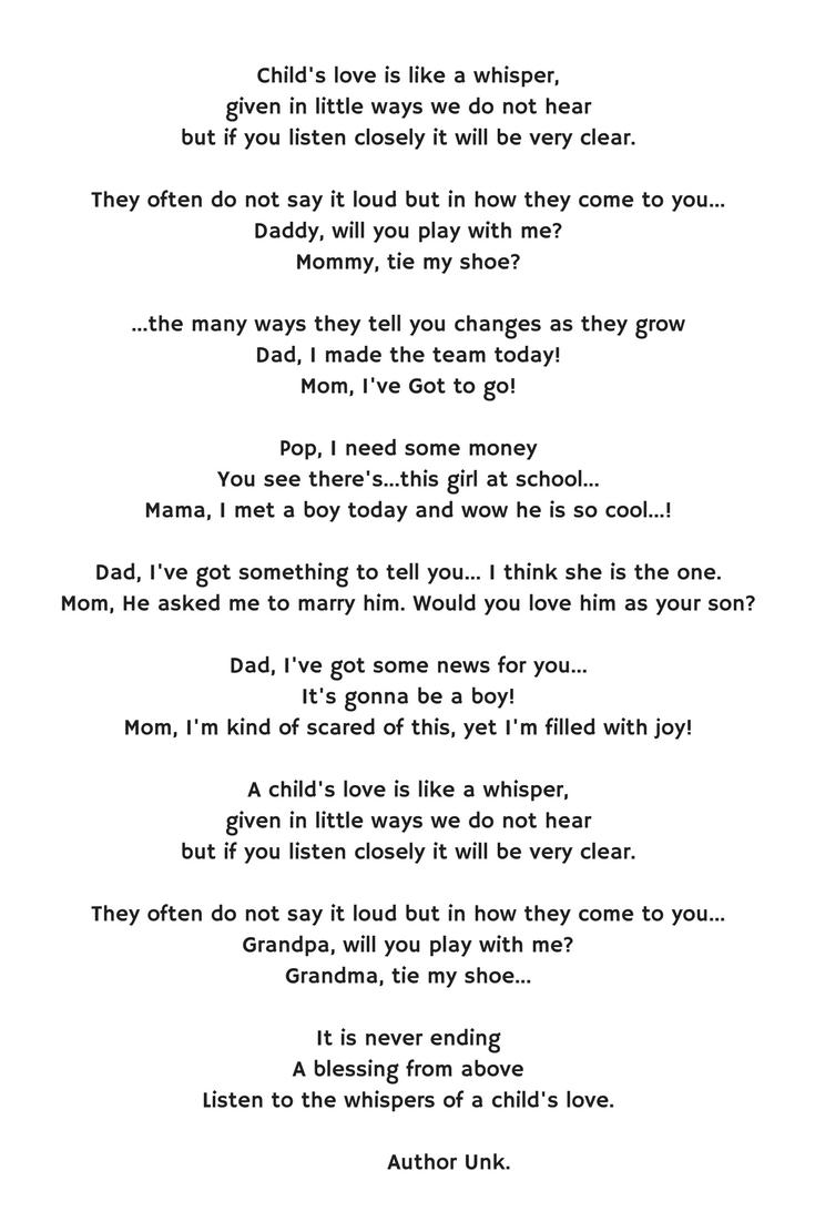 Inspirational short stories Child s love is like a whisper