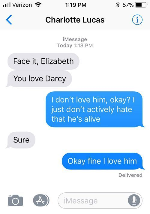 SparkLife » Pride and Prejudice As Told in a Series of Texts #prideandprejudice