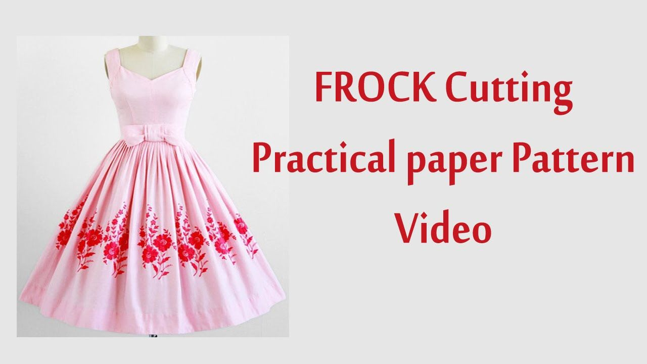 frock cutting and stitching in tamil with paper Pattern | sewing ...