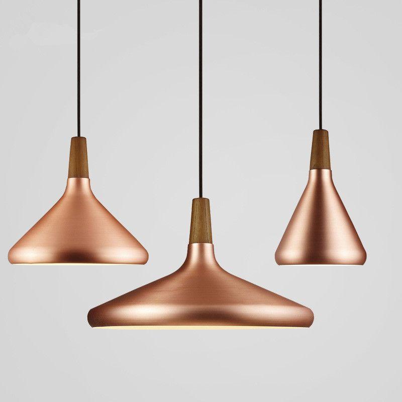 Pas Cher Nordique Pendentif Lumiere Moderne Led Pendentif Lampes Pour Salon Cuivre Hanglamp En Aluminium Suspension Luminaire Cuisine Luminaire Lampe Suspendue
