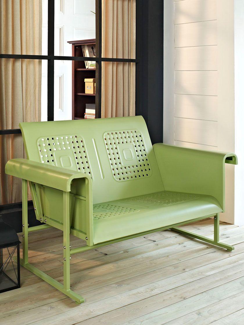 Crosley Veranda Loveseat Glider Gardener S Supply In 2020 Patio Loveseat Love Seat Patio Sofa