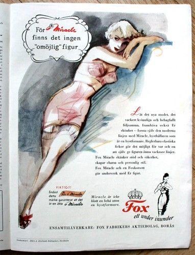 Annonsteckning för Fox Miracle år 1950