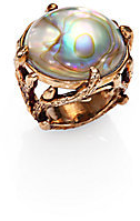 #Saks Fifth Avenue        #ring                     #Stephen #Dweck #Rock #Crystal, #Mother-Of-Pearl #Brass #Bamboo #Ring #Saks #Fifth #Avenue #Mobile      Stephen Dweck - Rock Crystal, Mother-Of-Pearl & Brass Bamboo Ring - Saks Fifth Avenue Mobile                                      http://www.seapai.com/product.aspx?PID=539334