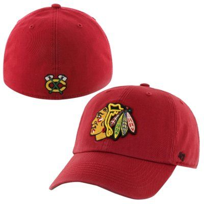 Mens Chicago Blackhawks '47 Brand Red Franchise Fitted Hat