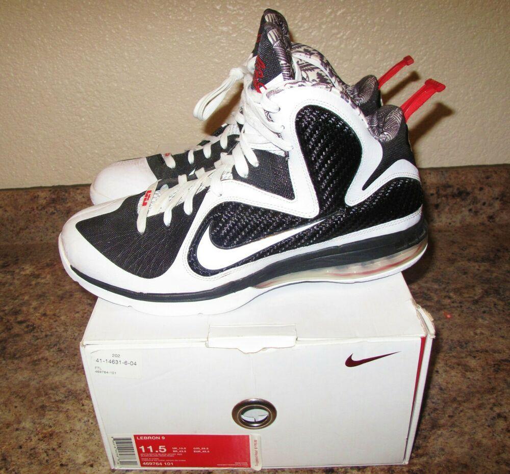 38a1d5942f77 ... Athletic Shoes by Lourdes McHugh. NIKE LEBRON 9 IX WHITE BLACK SPORT  RED FREEGUMS (469764-101) Size