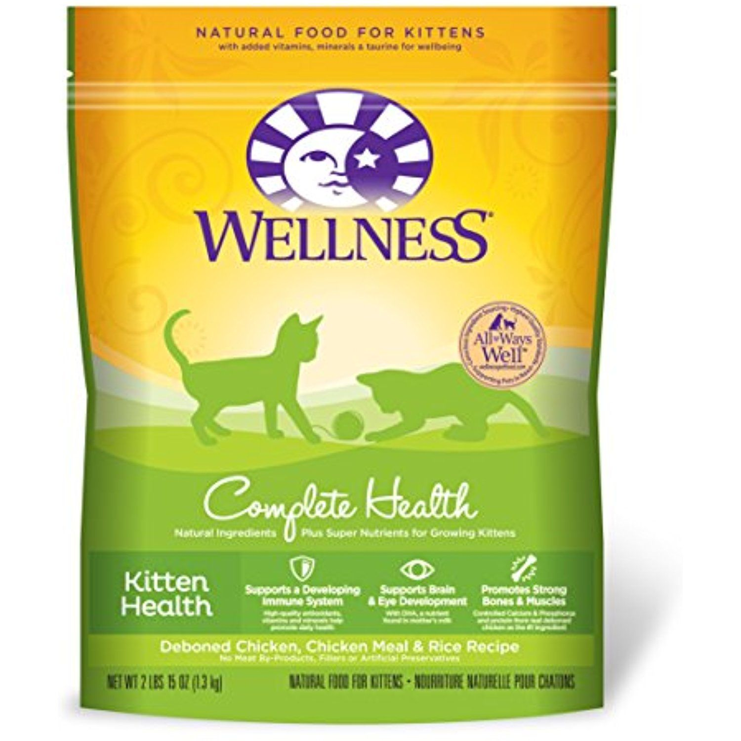 Wellness Complete Health Natural Dry Kitten Food Chicken Cats Kitten Food Kitten Health Dry Cat Food