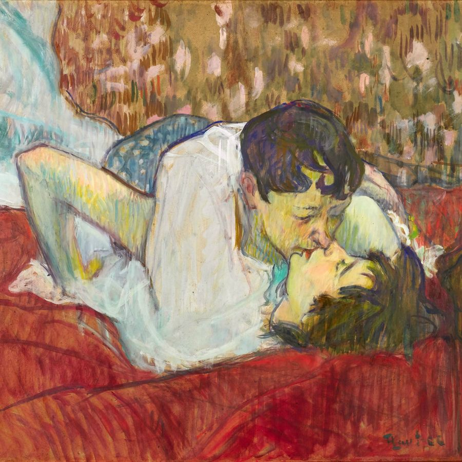 Henri De Toulouse Lautrec In Bed The Kiss Wall Hanging By Alexandra A Henri De Toulouse Lautrec Paintings Henri De Toulouse Lautrec Famous Artists Paintings