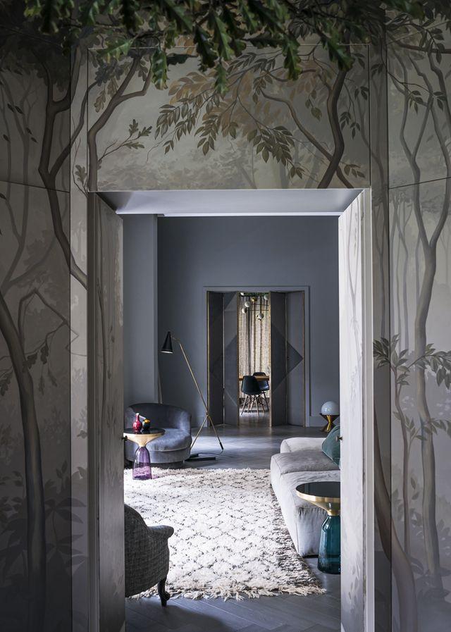 Un appartement cool et vintage à Milan Living rooms, Interiors and