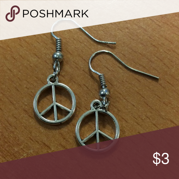 Download New Peace Sign Earrings (With images) | Fashion jewelry ...