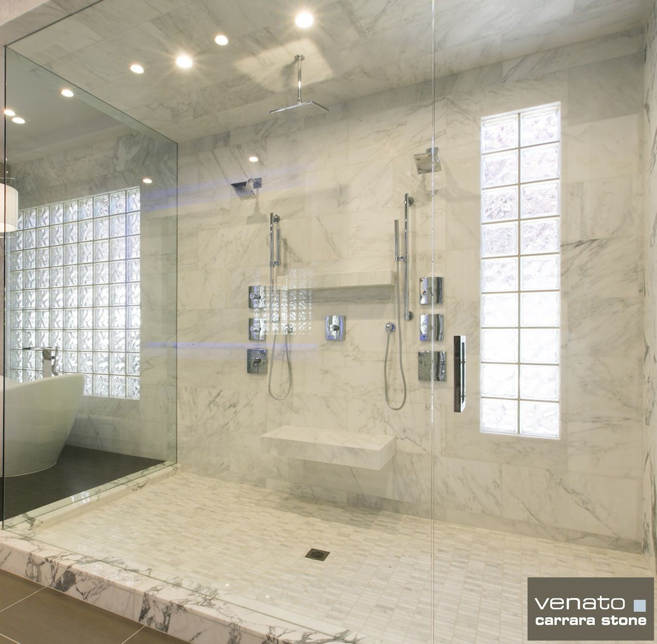 Carrara Carrera Venato Marble Polished 12x24 Subway Tile 22 Gif 1350 1323 Marble Tile Bathroom Carrara Marble Tile Tile Bathroom