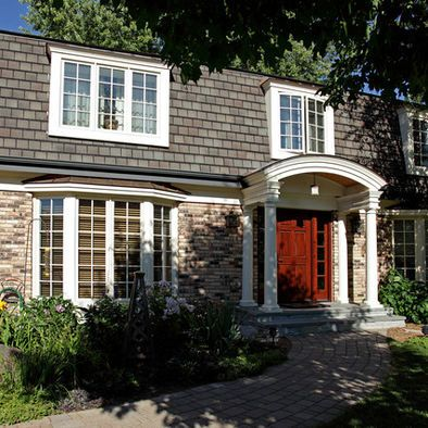 Mansard roof design pictures remodel decor and ideas - Colonial house exterior renovation ideas ...