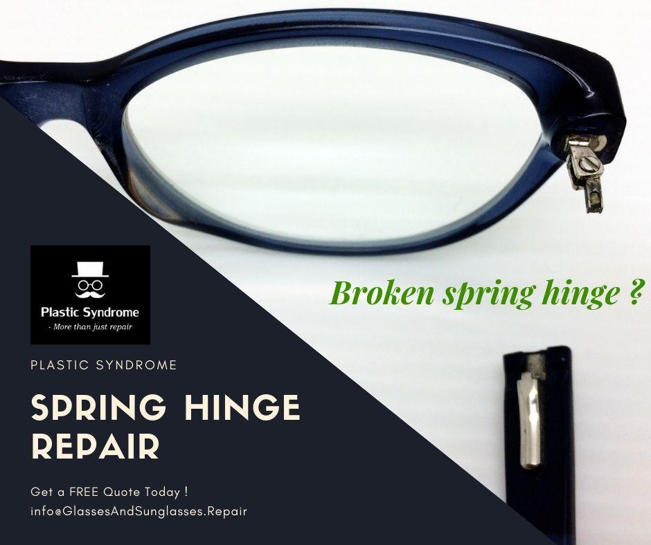 Broken spectacles glasses and sunglasses plastic frame
