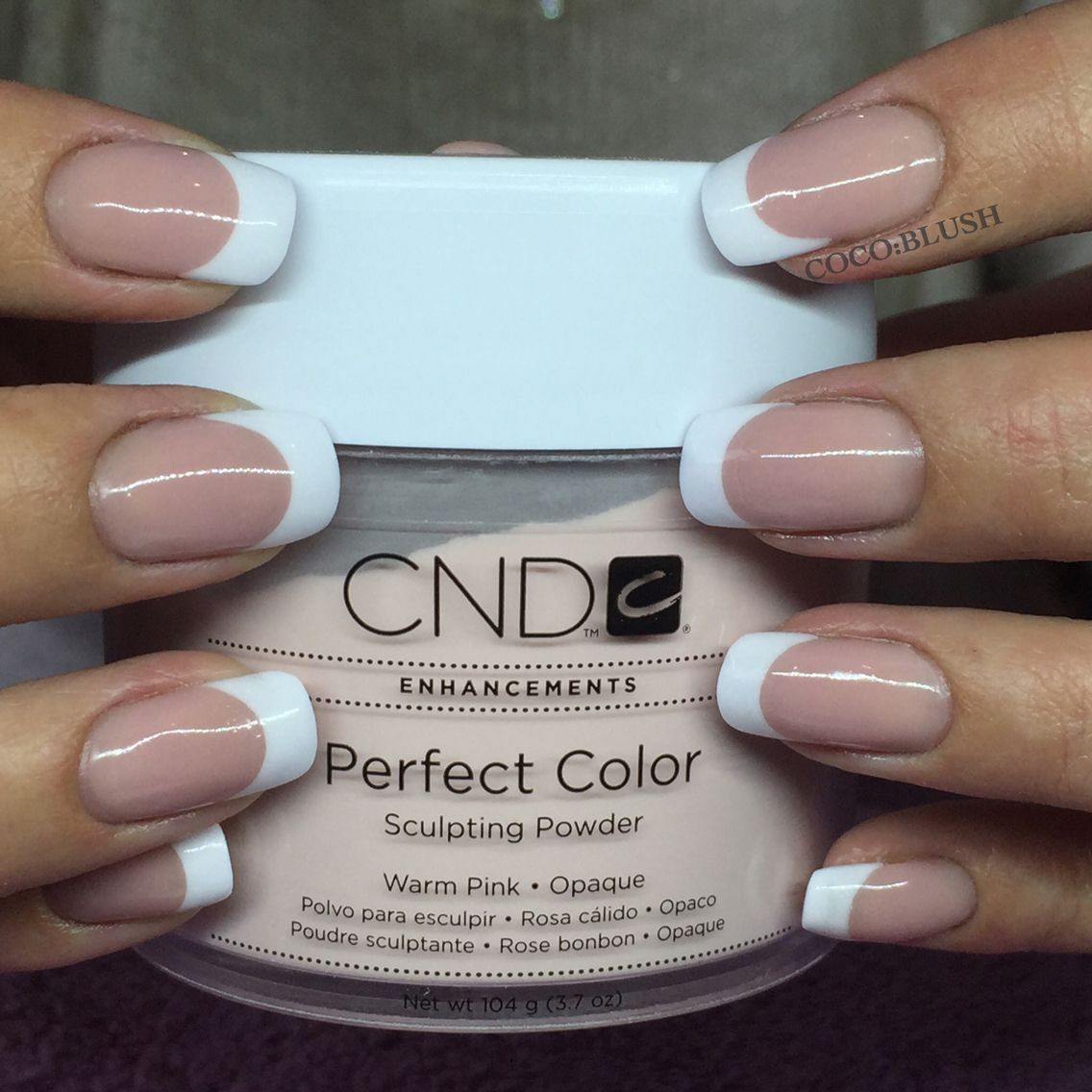 Chrome Nail Powder Cnd: Forever French Cnd Acrylic Enhancements. Pink And Whites