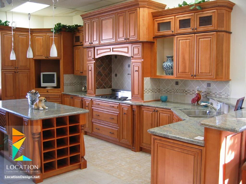 أشكال مطابخ خشبية بتصميمات عصرية دهانات مطابخ خشب 2017 2018 Kitchen Wood Design Kitchen Design Kitchen Interior