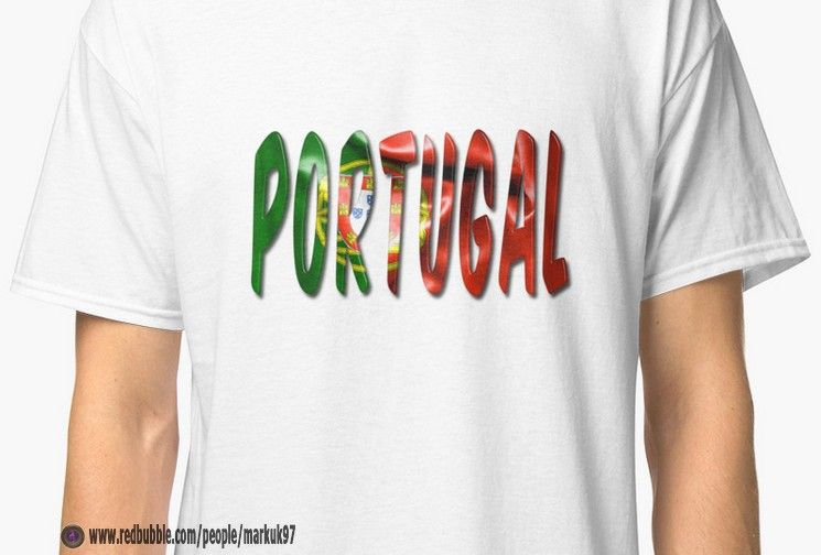 Portugal Word With Flag Texture Men\u0027s T-Shirt   wwwredbubble - word flag