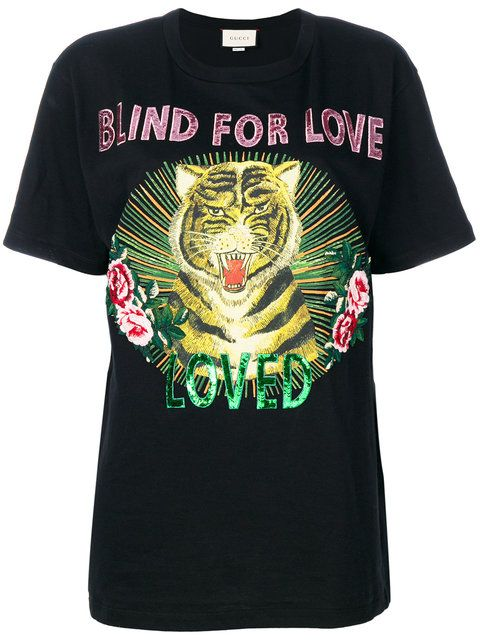 71ba5106 GUCCI BLIND FOR LOVE TIGER PRINT T-SHIRT. #gucci #cloth # | Gucci ...
