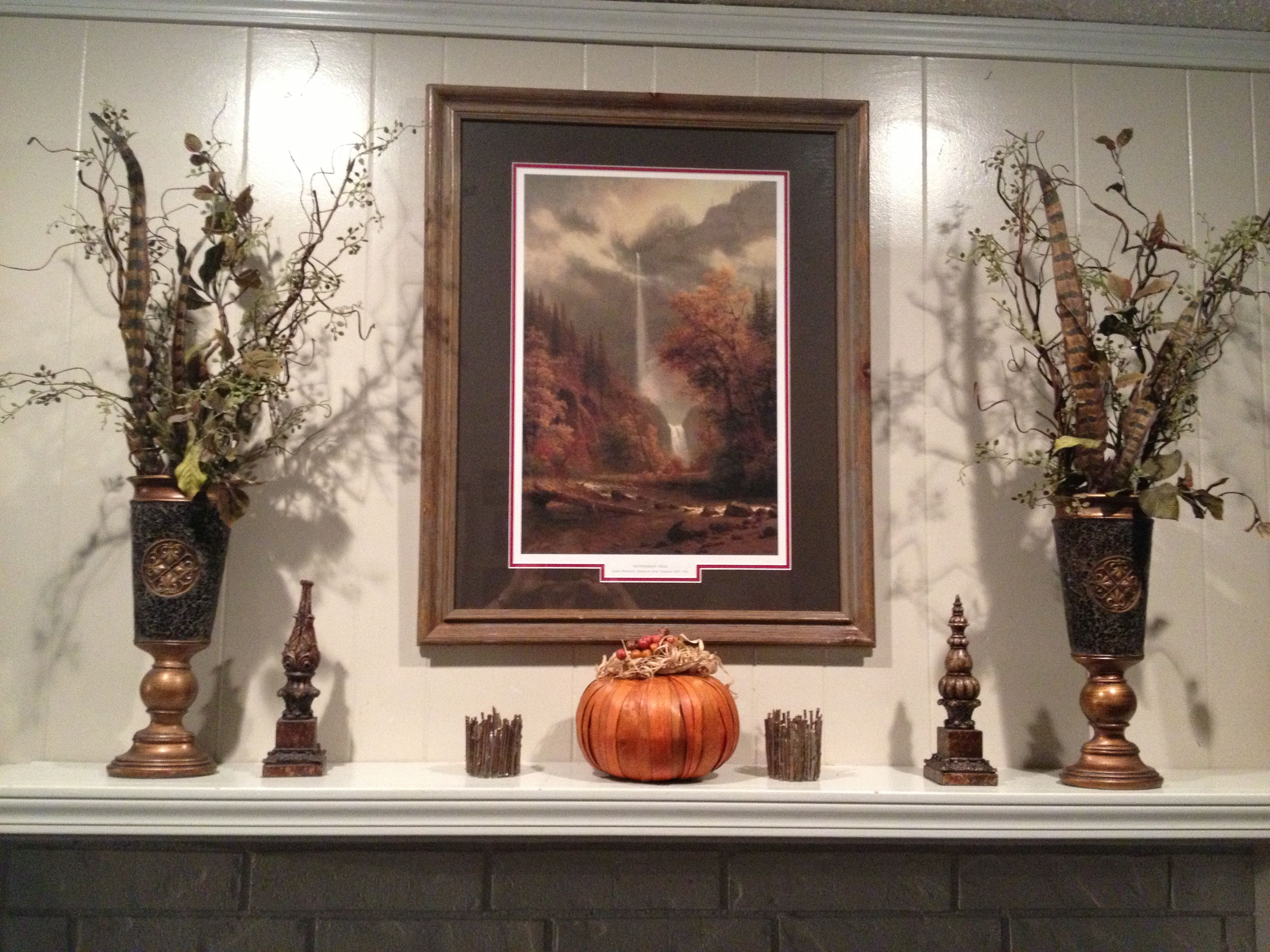 Fall mantle. (So I don't forget what I did next year!)