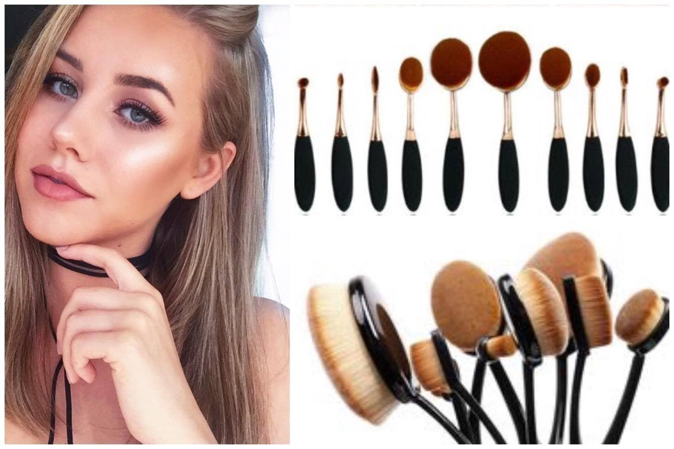 Artis Oval Makeup Brush DUPE ReviewDemo