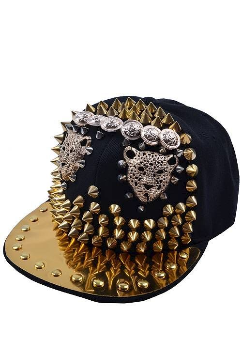 Leopard Spiked Snapback http   messyegyrlz.mysupadupa.com collections hats ddc78a0d845