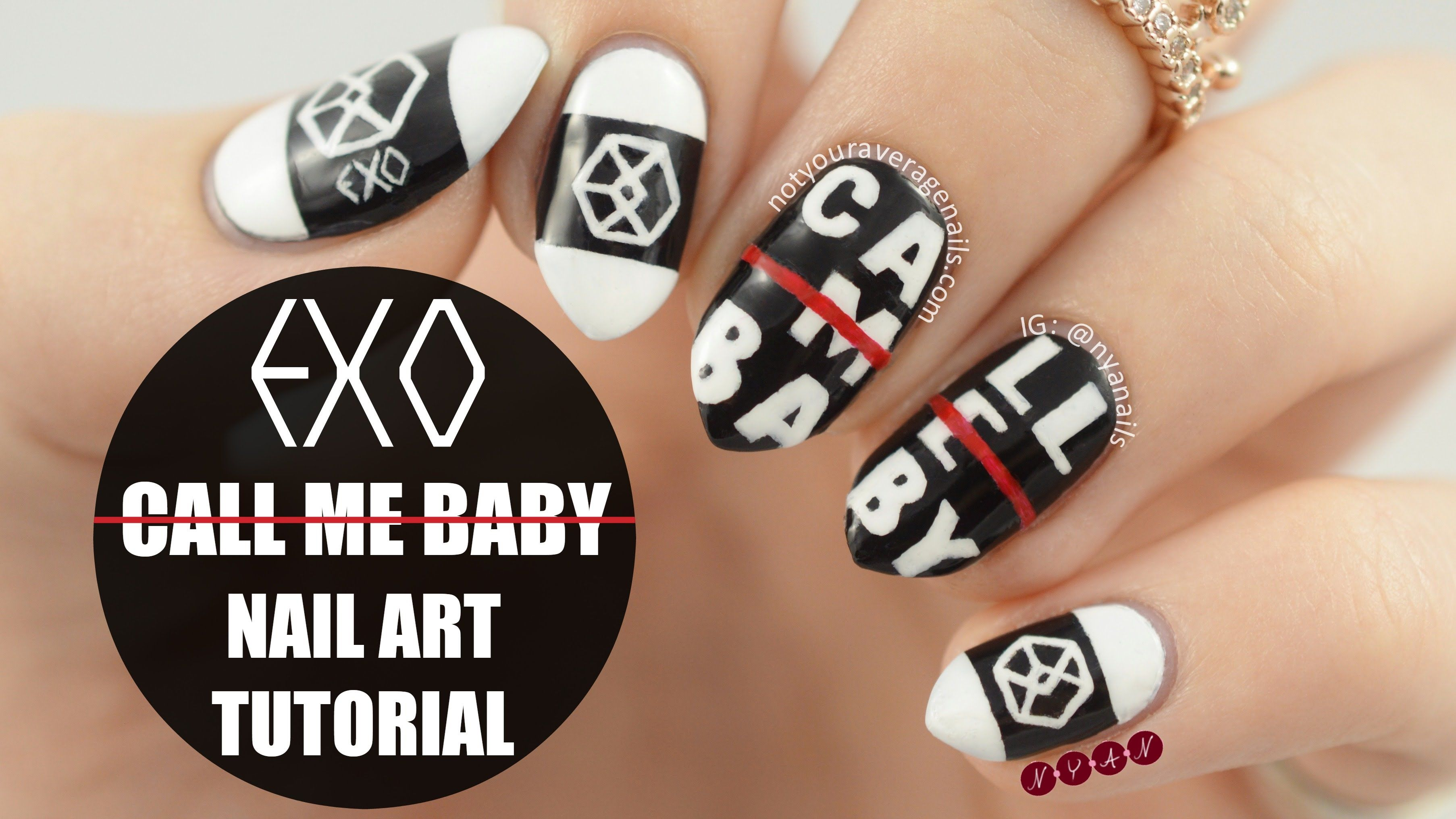 EXO #CallMeBaby Inspired Nail Art Tutorial | NAILed It | Pinterest ...