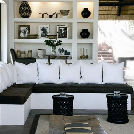 Modern Contemporary African Theme Interior Decor Design Luv The Shelving