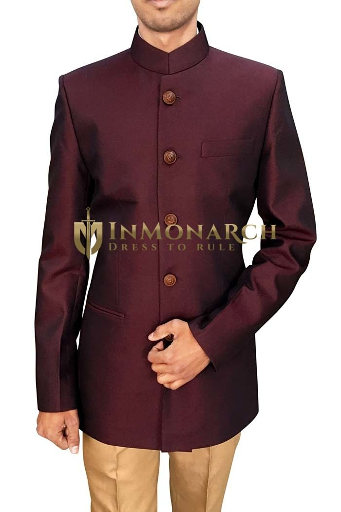 c5fde90143 Mens Wine 2 Pc Jodhpuri Suit Occasionwear | Jodhpuri suit wedding ...